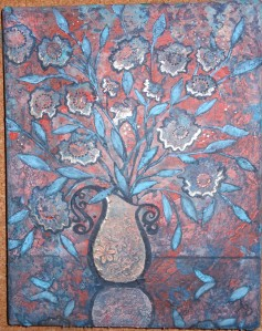 coral splash vase