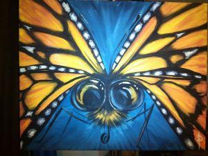 butterfly selfie crop